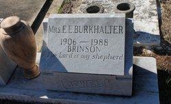 Mrs E. E. Burkhalter