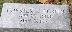 Chester J Ecklin