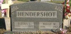 Bertha Louise. <I>Heintz</I> Hendershot