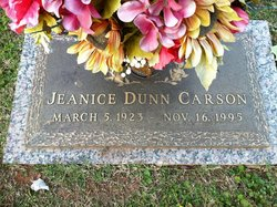 Jeanice <I>Dunn</I> Carson