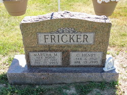 Martha M <I>Wood</I> Fricker