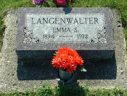Emma Salome <I>Bress</I> Langenwalter