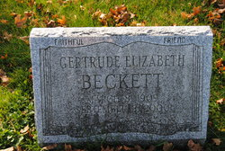 Gertrude Elizabeth Beckett