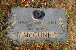 Georgia Marie <I>Acree</I> McCune