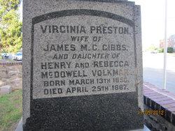 Virginia Preston <I>Volkmar</I> Gibbs