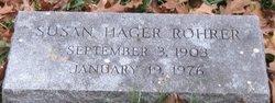 Susan <I>Hager</I> Rohrer