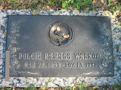 Jennie Dulcie <I>Ramage</I> Waskom
