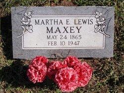 Martha E. <I>Lewis</I> Maxey