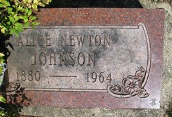 Alice <I>Newton</I> Johnson