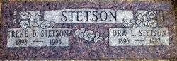 Ora L Stetson