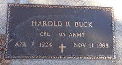 Harold R Buck
