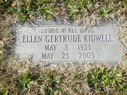 Ellen Gertrude <I>Rapp</I> Kidwell