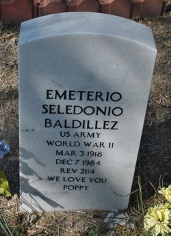 """Emeterio Seledonio """"Poppy"""" Baldillez"""