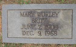 Mary Lee <I>Worley</I> Britt