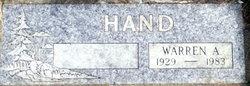 Warren A Hand