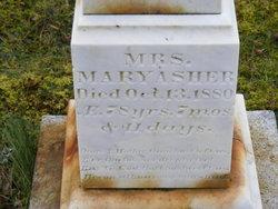 Mary <I>Dunham</I> Asher