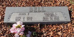 Nannie E. <I>Moss</I> Bell