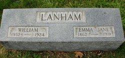 "Emma Jane ""Jennie"" <I>Hatton</I> Lanham"