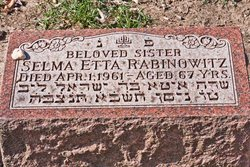 Selma Etta Rabinowitz
