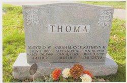Kathryn M Thoma