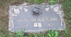 Thelma W <I>Hindman</I> Kohler