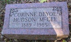 Corinne Maud <I>Deyoe</I> Hudson,McGee