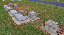 Row of Five Unreadable Stones