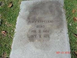 Alice <I>Copeland</I> Hunt