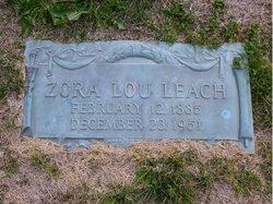 Zora Lou <I>Jenkins</I> Leach