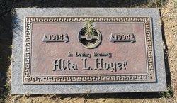 Alta L. <I>Lester</I> Hoyer
