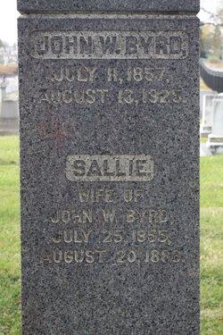 Sallie <I>Jones</I> Byrd