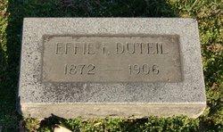 Effie F Dutiel