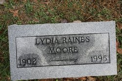 Lydia <I>Raines</I> Moore