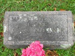 Marguerite <I>Decker</I> Klossner