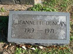 Elizabeth Jeannette <I>Gilkey</I> Duncan