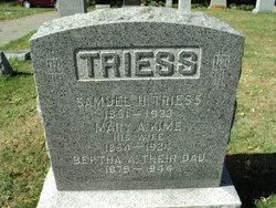 Mary A <I>Kime</I> Triess