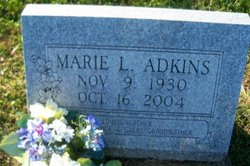 "Marie Lucille ""Mable"" <I>Gress</I> Adkins"