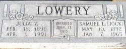 Julia V. <I>Moore</I> Lowery