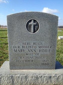 Mary Ann <I>Gieson</I> Hoile
