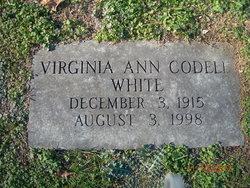 Virginia Ann <I>Codell</I> White