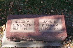 Jane D <I>King</I> Dingman Putnam