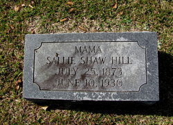 Sallie <I>Shaw</I> Hill