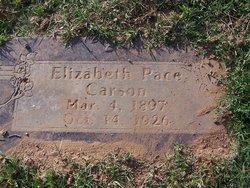 Elizabeth <I>Pace</I> Carson