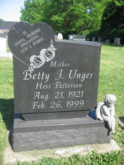 Betty J. <I>Hess-Patterson</I> Unger