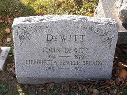 "Henrietta Yewell ""Etta"" <I>Bready</I> DeWitt"
