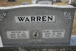Mary <I>DePriest</I> Warren