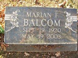 Marian Frances <I>Elliott</I> Balcom