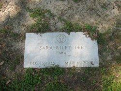 """Sara """"FaFa"""" <I>Riley</I> Lee"""