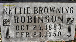 Nettie <I>Browning</I> Robinson