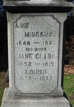 Jane <I>Clark</I> Mingonet
